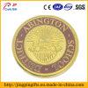 Moneta su ordinazione di Metalchallenge dell'emblema del banco con il marchio