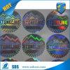 Etiqueta engomada de encargo del holograma de la insignia Stickers/3D de Sivler del círculo