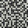 mosaico de mármol blanco y negro de 15*15m m para la decoración