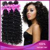 Extensão brasileira Curly profunda por atacado do cabelo do Virgin