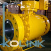 위조된 Steel Trunnion Mounted Ball Vale 3PC Gear Operation