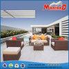 現代屋外の藤のテラスの庭のソファーセット