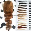 26 do  perucas feito-à-medida frontais do laço do cabelo humano da onda #30 7A corpo