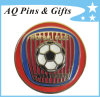 金属のImitation Cloisonne Football Lapel Pin Badge (バッジ053)