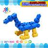 Kind-Plastiktischplattenspielzeug, das Auto-Baustein-Schreibtisch-Spielwaren einschiebt