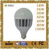lámpara plástica de la luz de bulbo de 18With26With35With42With60With80With100W LED