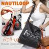 Mini mágico Shopping Stored e Folded Rolam-acima Shoulder Shopping Bag