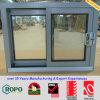 Poudre grise de couleur enduisant la double glissière en aluminium glacée/glissant Windows