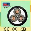 La tension moyenne 8.7/15kv XLPE a isolé le PVC a engainé le câble d'alimentation de 3 faisceaux