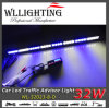 Luz de advertência direcional LED Traffic para veículo azul branco