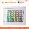 Etiqueta engomada de Anti-Falsificación redondeada del holograma de la seguridad de la Anti-Falsificación de la impresión de la escritura de la etiqueta