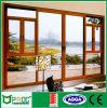 Porte en verre en aluminium de tissu pour rideaux d'As2047 Profle avec le panneau de glaçage