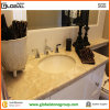 L Shape Cream Marfil Marble Vanity Top для 5-Star Hotel
