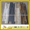 Preto/White/Rusty/Yellow Natural Slate Stack Stone para Interior Wall