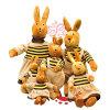 Cadeau bourré drôle de peluche de lapin de famille de peluche