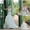 Cetim 2012 e Tulle Ivory L vestidos de casamento (WD034)