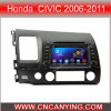 Reprodutor de DVD do carro para o reprodutor de DVD puro do carro do Android 4.4 com a tela de toque capacitiva GPS do processador central A9 Bluetooth para Honda Civic 2006-2011 (AD-7658L)