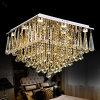 現代贅沢で大きいLEDの水晶長方形の水晶Chandelier Lustre De Crystal Ceilingランプのレストランのホーム装飾的な据え付け品