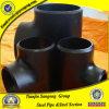 Té noir d'ajustage de précision de pipe d'Abouter-Soudure d'A234 Wpb pour la pipe de structure