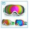 Lunettes réglables UV de ski de dédouanement avec la lentille de miroir