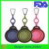 Cuvette pliable de silicone incassable pour le chien d'animal familier (SY-DW-112)