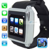 同期信号Phonebook、SMS 1.54 防水Call Watch Mobile Phone