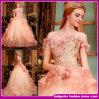Il merletto in rilievo di colore rosa dell'innamorato del vestito da cerimonia nuziale del più nuovo cristallo lussuoso di stile 2015 increspa l'abito di sfera (W002)
