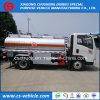 Roda de Sinotruck HOWO 6 5000 caminhão do reabastecimento do petróleo do caminhão 5000L do depósito de gasolina do litro