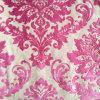 Telas de la cortina del sofá del terciopelo del corte del color de rosa