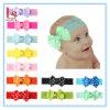 도매 새로운 아기 머리장식 파 머리 악대 리본 활 아이들 Bowknot 11 색깔 사탕 색깔 레이스 머리띠