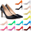 方法中間のかかとの女性の靴の足首ポンプ