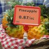 De Plastic Digitale Prijskaartjes van de supermarkt voor Planken