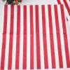 Favores rayado rojo del partido de la servilleta de papel