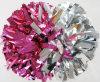 Metallisches POM Poms: Heißes Pinl&Silver