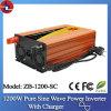 1200W 24V gelijkstroom aan 110/220V AC Pure Sine Wave Power Inverter met Charger
