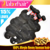 7A Grade 12  Malaysian Virgin Human Hair Extensions Body Wave