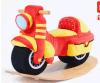 Motocicleta de balanço de balanço de madeira do brinquedo da fonte da fábrica