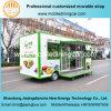 Тележка нового внешнего вида зеленого цвета фрукт и овощ конструкции 2017 электрическая передвижная