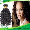 Nenhum cabelo Curly humano peruano da mistura e do Virgin inferior cheio