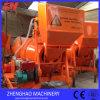 Uno mismo que carga el mezclador concreto diesel con la tolva hidráulica