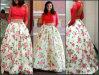 Красное платье коктеила E20160 вечера Bridesmaid флоры печатание платья выпускного вечера