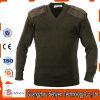 Шерсти свитера армии Akwing прованского зеленого цвета классицистические воинские/акриловый пуловер