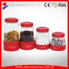 Heiße Verkaufs-Edelstahl-Beschichtung-Glasnahrungsmittelglas für Gewürze/Zucker/Kaffee/Tee