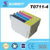 Patroon van de Inkt van de Kleur van de top de Compatibele voor Epson t0711-4