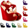 Sandalias suaves de las mujeres de la correa de Flannelette