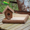 Nuovo Wood Handmade Bird House con Tree Bark (14A0976)