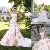 レースまたはサテンの人魚の婚礼衣裳か花嫁の服