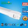 중국 도매 LED 가벼운 관 24W G13 기본적인 알루미늄 SMD2835 100-110 Lm/W 8FT LED 관 전등 설비 8FT LED 관 전등 설비