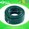 Boyau hydraulique tressé de pipe de jardin d'eau claire de PVC de fibre transparente en plastique de boyau