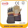 De lange Handschoenen van het Werk van de Bedrijfsveiligheid van het Leer van de Korrel van de Koe van het Manchet (120021L)